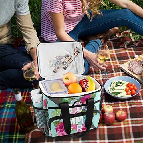 Bardic, borsa termica estiva con picchio e fiore, borsa termica termica per il pranzo, 24 lattine (15 l