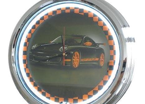 Neón reloj Porsche GT3 reloj de pared decorativo-reloj Leuchtuhr Estados Unidos 1524 cm s diseño Retro reloj Neonuhr: Amazon.es: Hogar
