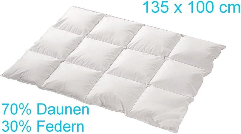 100/% BAUMWOLLE KISSEN f/ür Kinderbett F/üllung Set Baby Bettw/äsche Bettdecke 135/x 100/cm