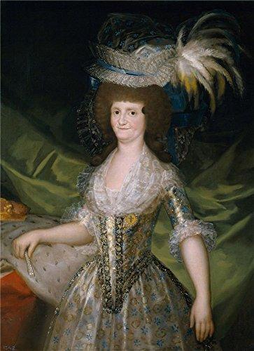 goya-y-lucientes-francisco-de-replica-maria-luisa-de-parma-reina-de-espana-1790-oil-painting-10-x-14