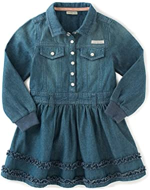 Baby Girls' Long Sleeve Denim Dress and Panty