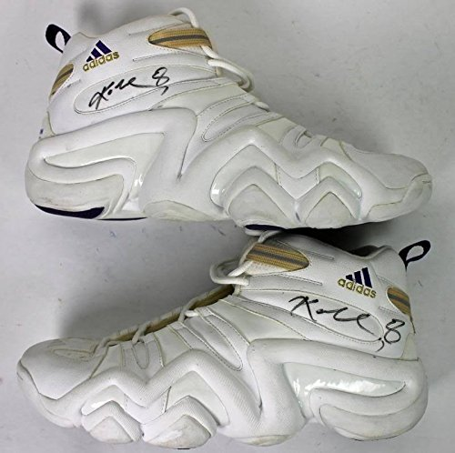 Lakers Kobe Bryant Signed 1999 Game Used Adidas Shoes wit...