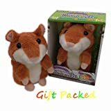Talking Hamster Repeat What You Say Mimicry Pet Toy Plush Buddy Mouse for Children Gift Halloween and Christmas