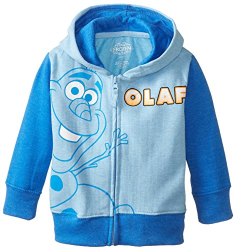 Frozen Costumes Boy (Disney Little Boys' Toddler Frozen Olaf Boys Hoodie, Blue Heather, 2T)