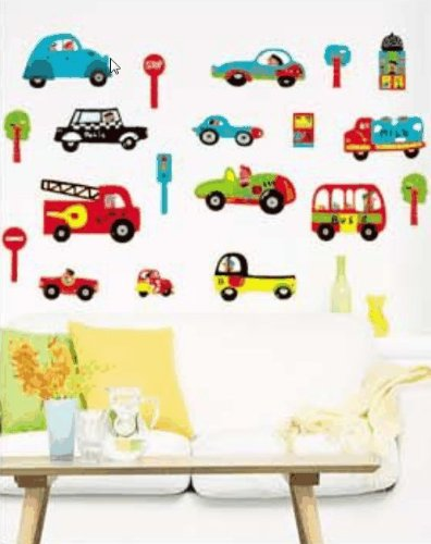 Perfect Nursery CAR Boys Bedroom Nursery Wall Stickers Part 24