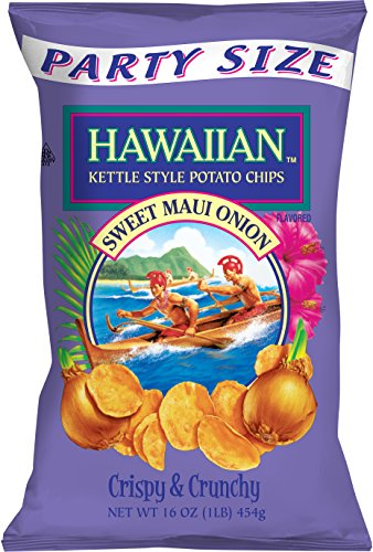 Hawaiian Kettle Style Potato Chips, Sweet Maui Onion, 16 - Kettle Sweet
