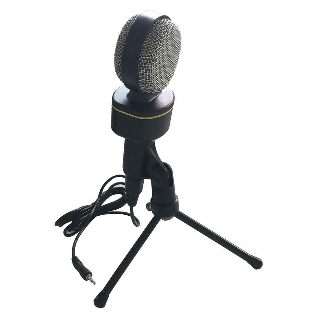 MXK PC Tripod Stand Microphone, 3.5mm Slot Plug & Play Professional Home Studio Condenser Microphone for Podcast, Recording, Online Chatting