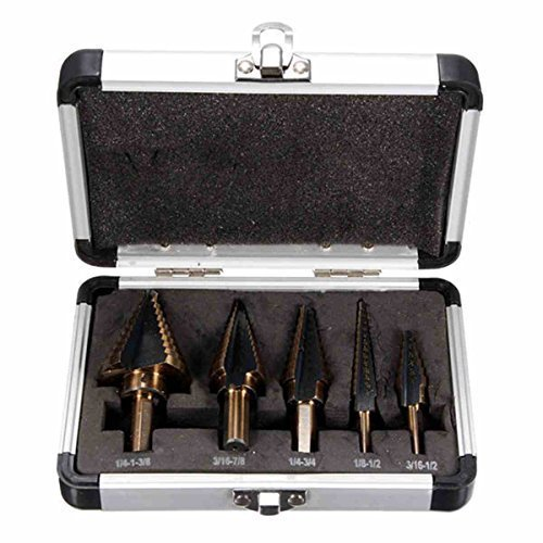LESOLEIL 5pcs Triangle Shank Kaiserpagode Stufenbohrer Set