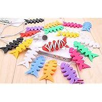 Gain 5/20/50/100 Pcs Cute Multicolor Soft Silicone Rubber Fish Bone Fishbone Ninja Darts Star Key Cord Winder Cable... lowestprice