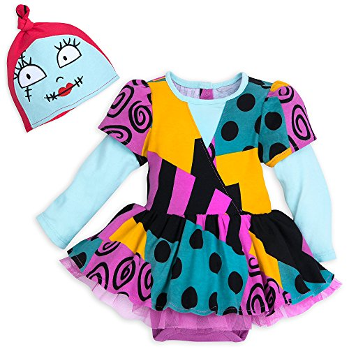 Nightmare Before Christmas Zero Costume Baby (Disney Sally Costume Bodysuit with Hat for Baby - The Nightmare Before Christmas Size 0-3 MO)