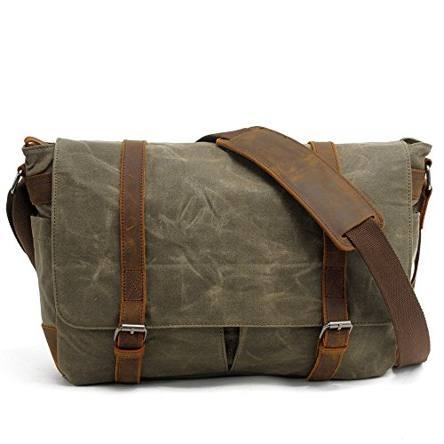 For Bags Men's Casual Man Green Canvas Black Travel Wenjack Unisex Work Bag Purse color Business Shoulder Messenger Crossbody Camera xOSqfYfn