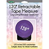 Sullivans 37268 Retractable Tape Measure, 120'', Purple