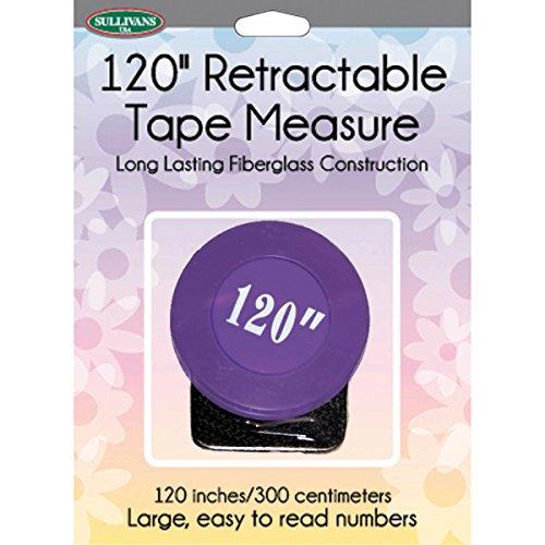 Sullivans 37268 Retractable Tape Measure, 120'', Purple by Sullivans
