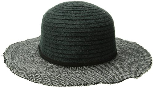san-diego-hat-company-womens-chenille-crown-with-floppy-hat-black-one-size