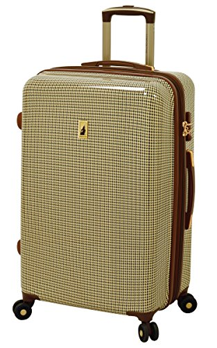 London Fog Cambridge 25'' Expandable Hardside Spinner, Olive Plaid by London Fog (Image #7)