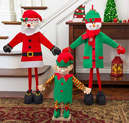 party city santas workshop entryway decorating kit christmas decorations for home 3 pieces