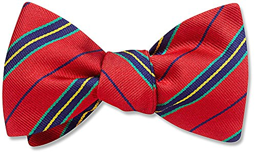 Boat House Red Striped, Men's Bow Tie, by Beau Ties Ltd of Vermont