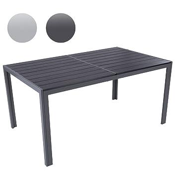 Attraktiv Gartentisch Für Bis Zu 6 Personen, Alu Tisch Witterungs  Und UV Beständig (