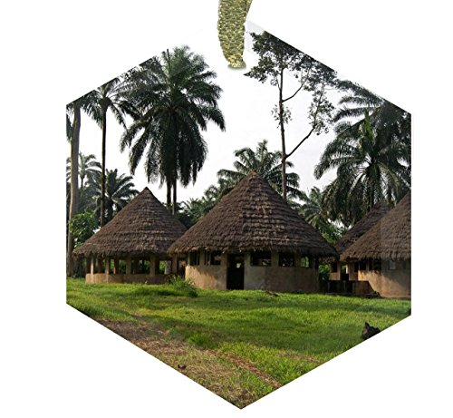 Home Accents Hut Classrooms at the Lusakela Agriculture Station Democratic Republic of Congo Africa - Crystal Christmas Ornament