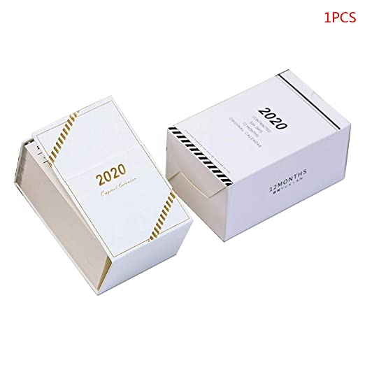 Mini calendario de mesa, 2020 Mini Simple Calendario de escritorio ...