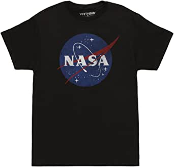 Fifth Sun NASA Logo Adult T-shirt - Black