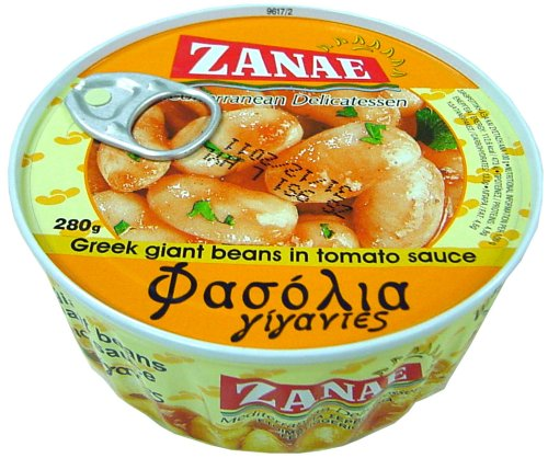 Price comparison product image Zanae Greek Giant Baked Beans (Gigantes) 10 Oz Easy-open Can