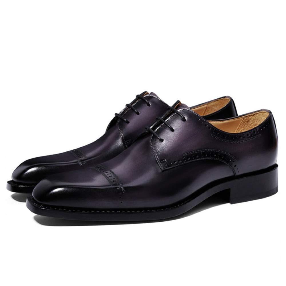 A GTYW, Chaussures Derby Derby d'affaires pour Hommes, Chaussures De Chevalier en Cuir Habillées pour Hommes, Chaussures pour Hommes Faites à La Main, Chaussures De Mariage, Tenue De Soirée, 39-43