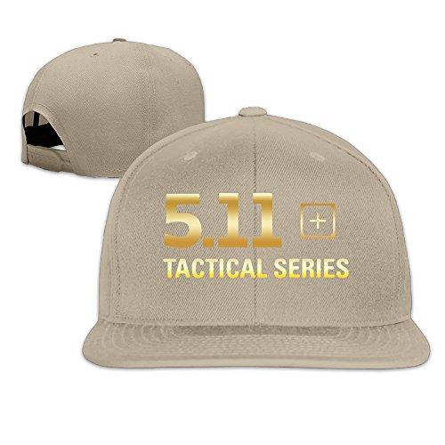 5.11 Tactical Logo Flat Brim Baseball Cap Natural ()