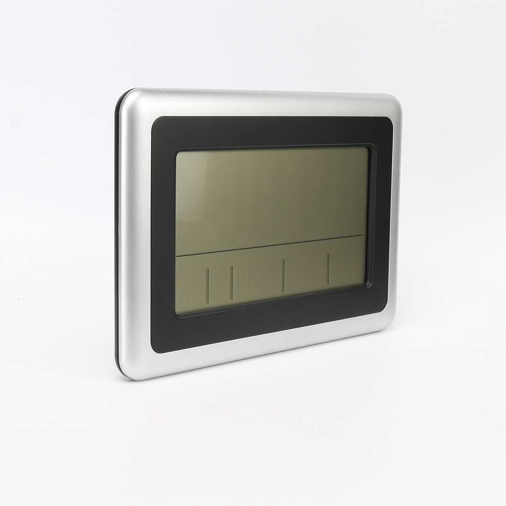 Elenxs LCD digital de pared grande del termómetro del reloj del calendario de escritorio Medidor de tiempo Alarma electrónica Interiores Temperatura: ...