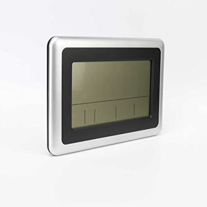Providethebest LCD digital de pared grande del termómetro del reloj del calendario de escritorio Medidor de