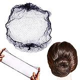 50pcs Hairnets Hair Net For Bun Invisible Elastic