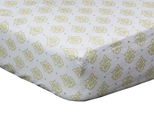 Juliette Gold Medallion Fitted Crib Sheet by The Peanut Shell (Gold Fitted Crib Sheet compare prices)