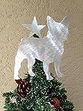 French Bulldog, Frenchie, Dog Christmas Tree Topper, Wreath Decoration, Holiday Decoration, Aluminum