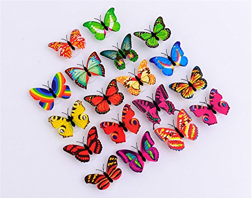 1-Set-10Pcs-Wall-Stickers3D-LED-Lights-Home-Decoration-Removable-Butterfly-Decal-DIY-With-3Pcs-LR41-Electronic