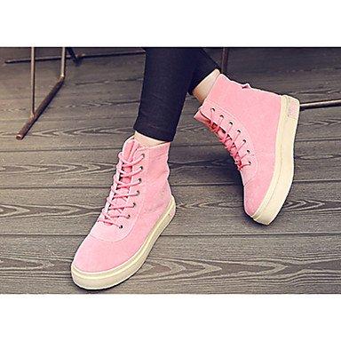Wsx & Plm Womens-tobillo Boots-leisure Time Casual-cómodo-flat-pu (poliuretano) -negro Pink Camel, Camel, Us8.5 / Eu39 / Uk6.5 / Cn40