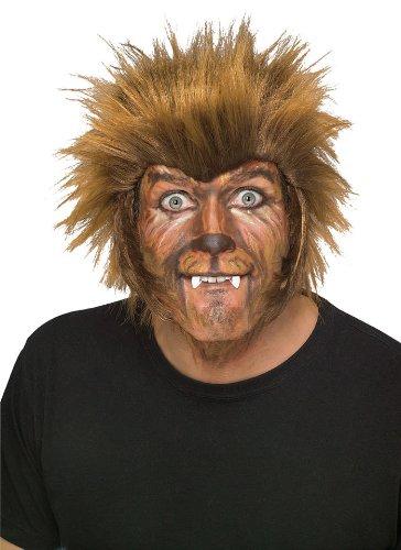 Teen Wolf Werewolf Costume (Rubie's Wolfman Wig, Brown, One)