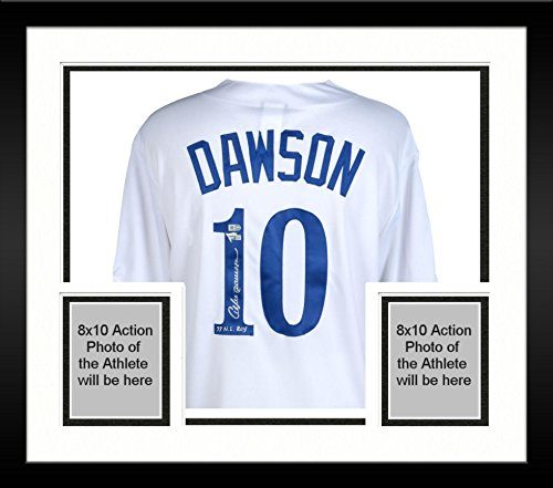 Framed Andre Dawson Montreal Expos Autographed Majestic White Cooperstown Collection Replica Jersey with