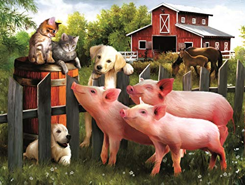 Making Some New Friends 500 pc Jigsaw Puzzle by -