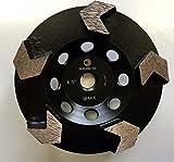 Whirlwind USA GPA 4.5 in. Diamond Grinding Cup Wheel Premium Arrow-Shape Segmented Cup (4.5'' 5/8-11)