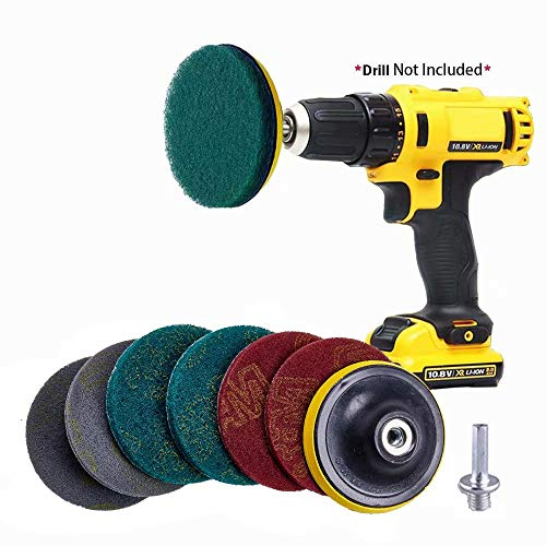 GIB cleaningtool Replacement Scrub Pads Scouring Pads Cleaning Kit for Bathroom, Grout, Shower, Tub, Floor, Tile, Corners and Kitchen Surfaces