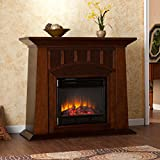 Bayard Electric Fireplace Harper Blvd Furniture with Adjustable Thermostat and Adjustable Flame Brightness, Espresso...