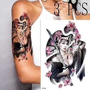 tzxdbh 3 Piezas/Pieza Blue Demon Ji Tattoo Rose Candy Tattoo ...