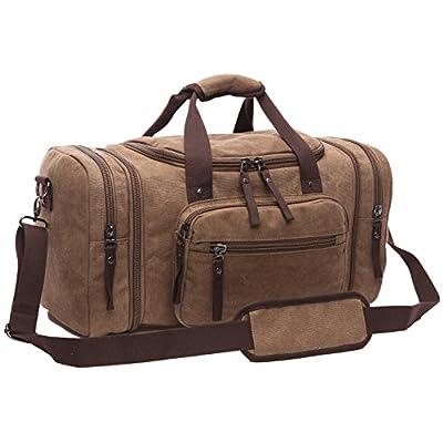 chic ZUOLUNDUO Men's Oversized Canvas Travel Luggage Bag Weekend Duffel Handbags