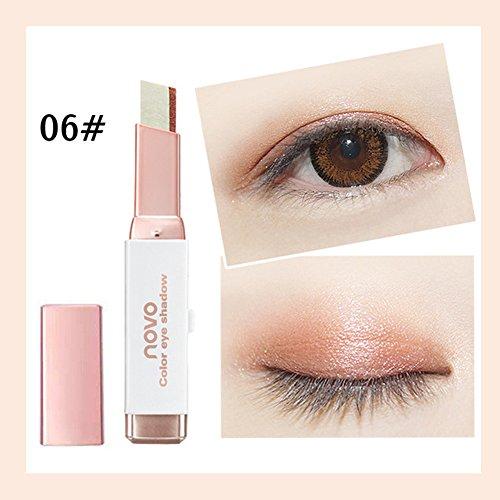 (Big promotion! Two-Color Eyeshadow Pen Hosamtel Waterproof Double Color Eyeliner Eye Shadow Pencil Makeup Eye Cream Stick Eye Liner Pen Cosmetic Eyeshadow (F))