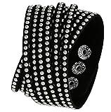 Best Regetta Jewelry And Friend Charms - Black Flannel Friendship Adjustable Wrap Bracelet with Steel Review