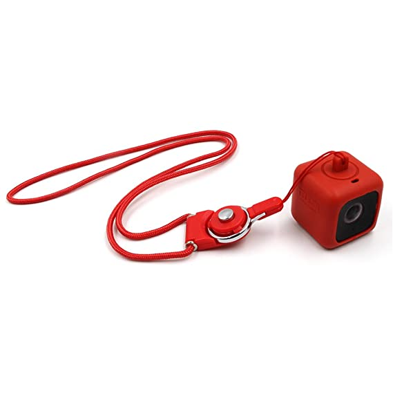 Telesin CUBE+ Estuche colgante parachoques para Polaroid CUBE c/ámaras de estilo de vida de acci/ón con collar de cord/ón y broche removible