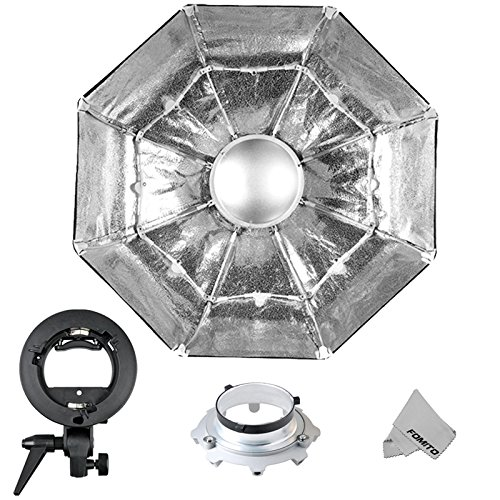 Fomito Foldable Beauty Dish Softbox with Bowens Mount Inner Silver (Diameter: 39