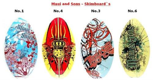 MAUI & SONS Wave Kinder Skimboard No 1 -blau-rot