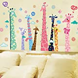 Kaimao Cute Giraffe Decorative Wall Stickers Removable Wallpapers Home Decals for Kids Baby Bedrooms Nursery Schools