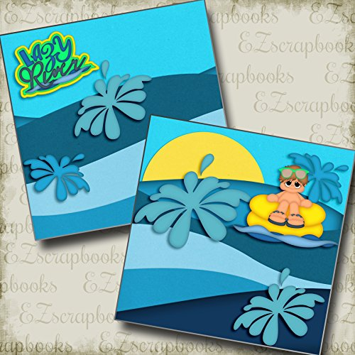 Lazy River Boy - Premade Scrapbook Pages - EZ Layout 2999